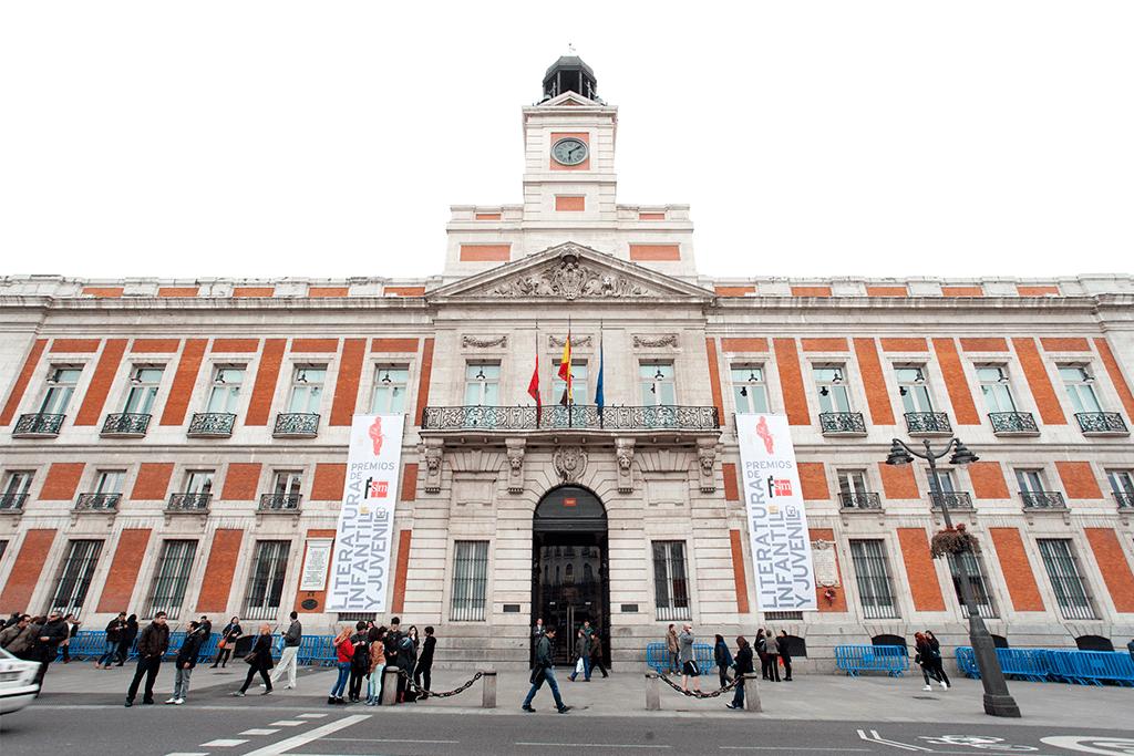 ENTREGA PREMIOS FUNDACIÓN SM LITERATURA INFANTIL: FACHADA COMUNIDAD DE MADRID